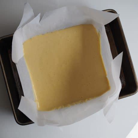 square pan in larger pan