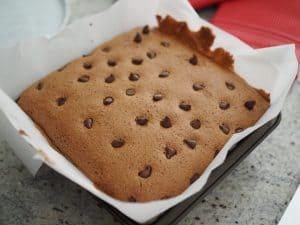chocolate castella cake