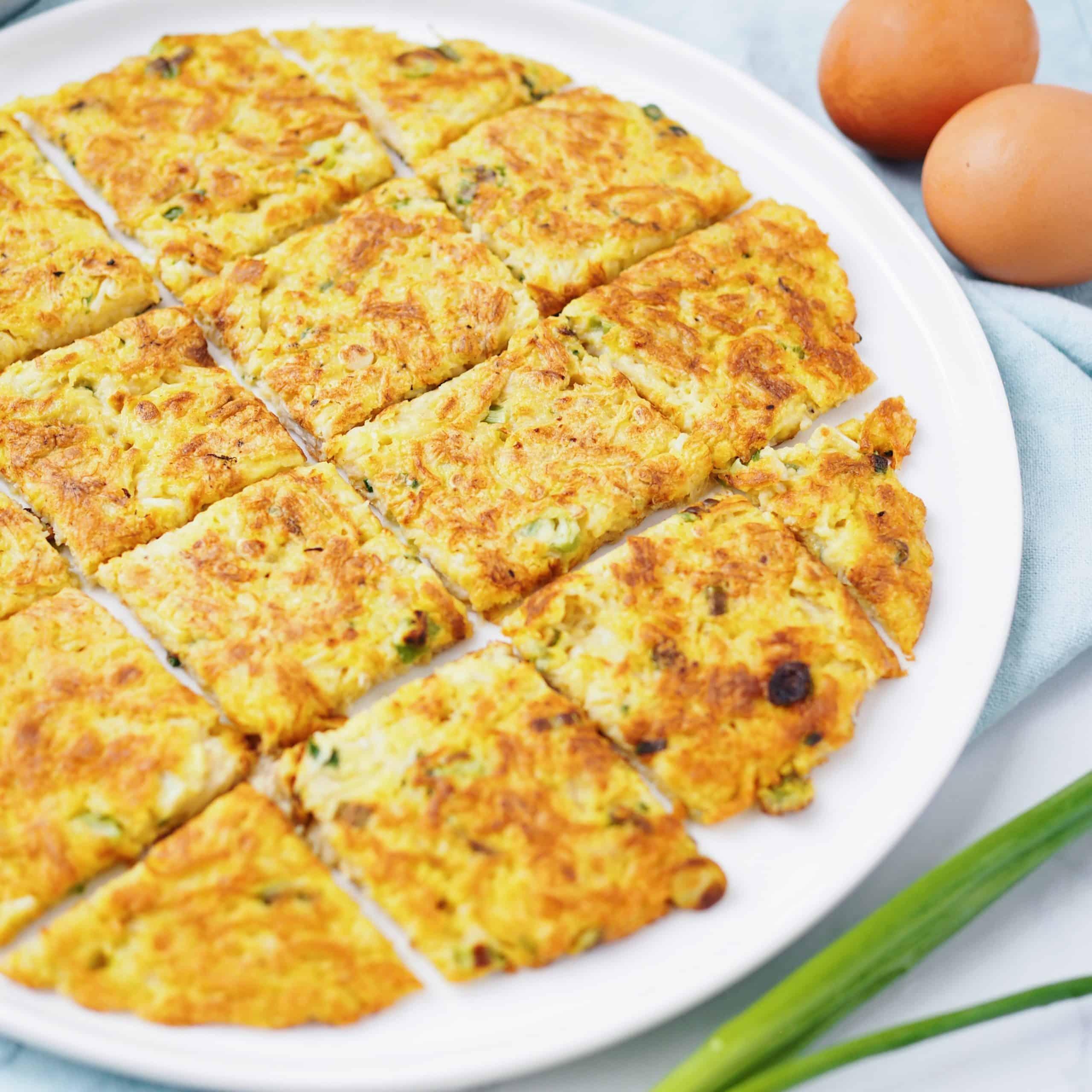 Enoki Mushroom Egg Pancake