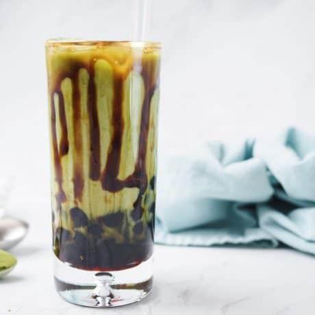 Brown Sugar Boba Matcha Latte