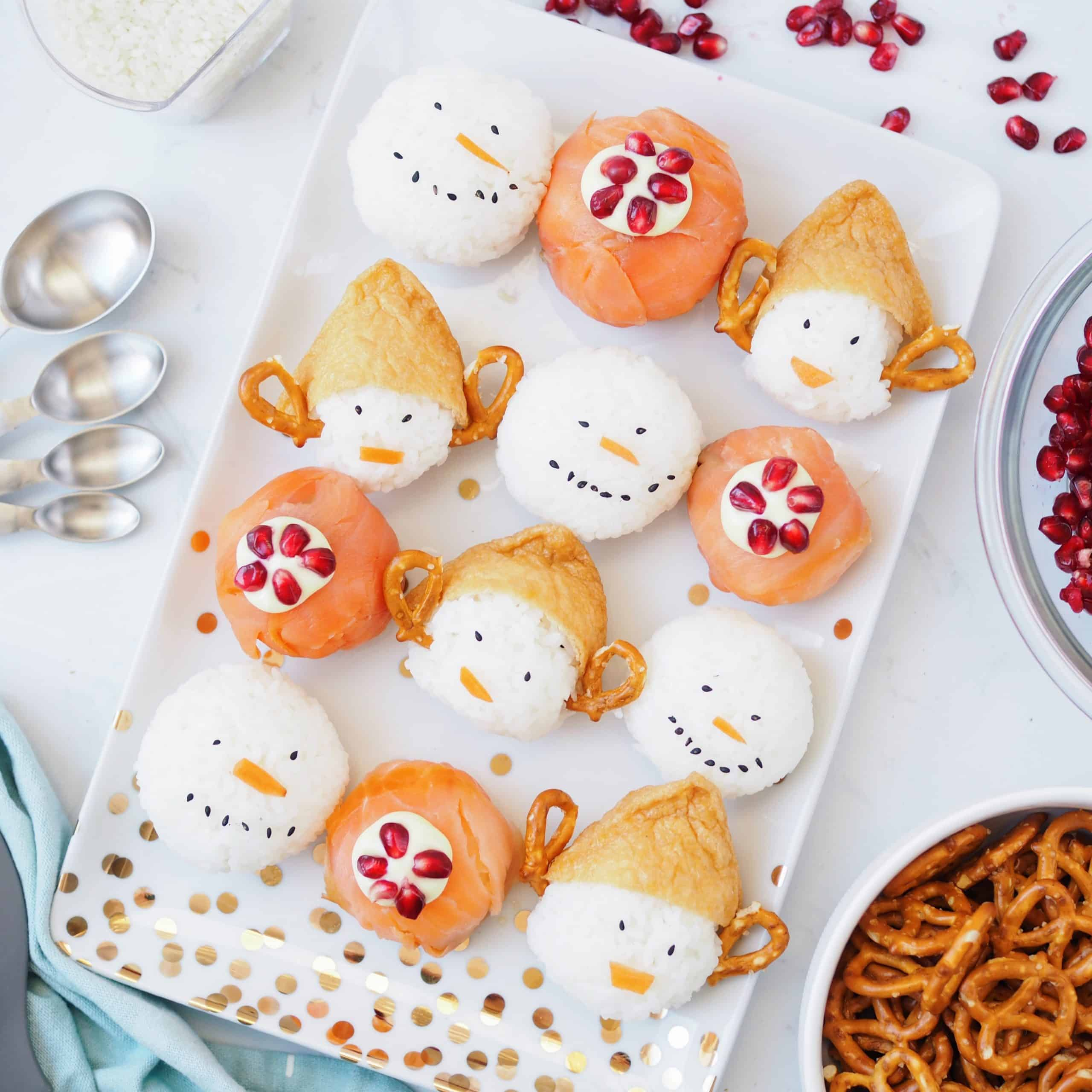 Christmas Temari Sushi Balls
