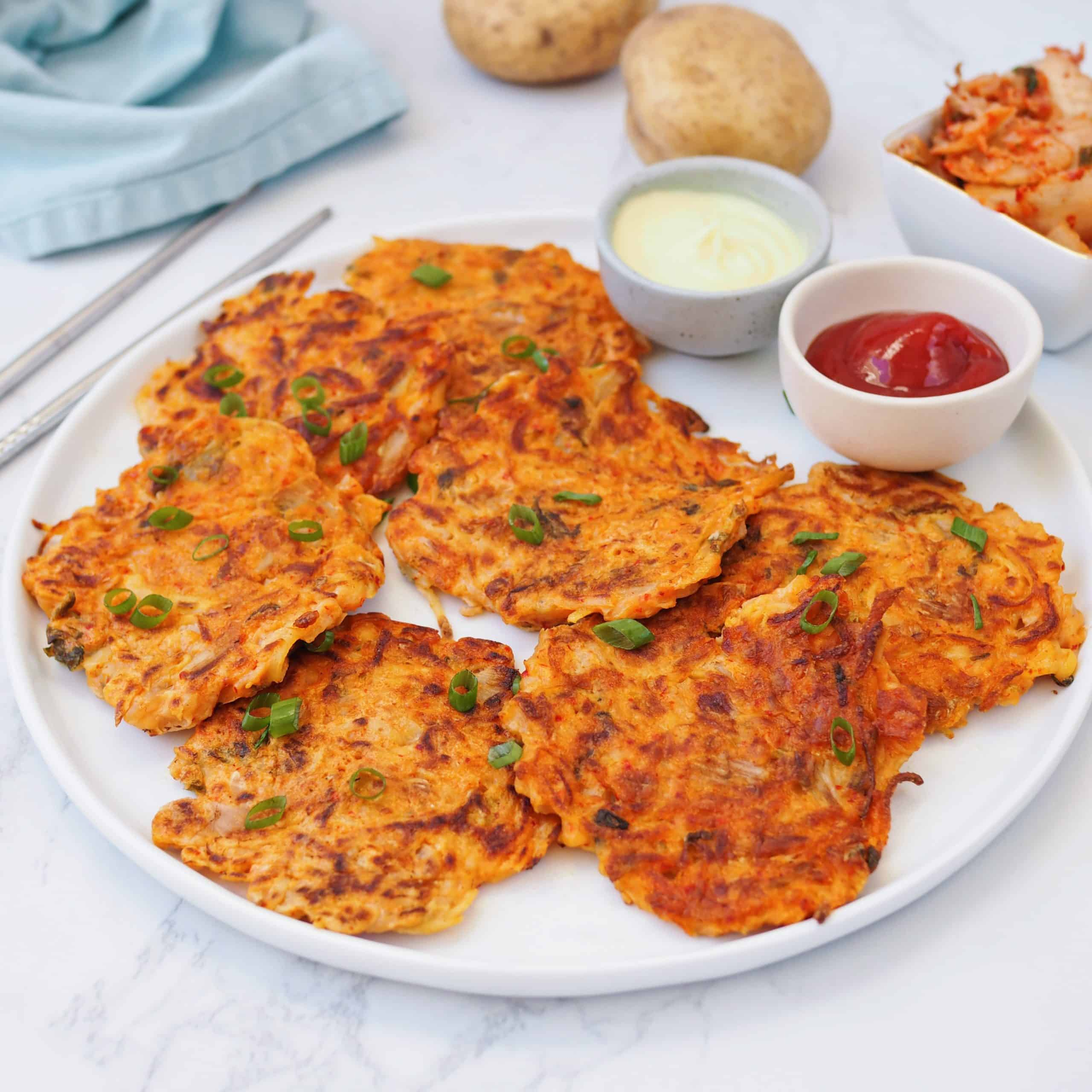 Kimchi Potato Pancakes
