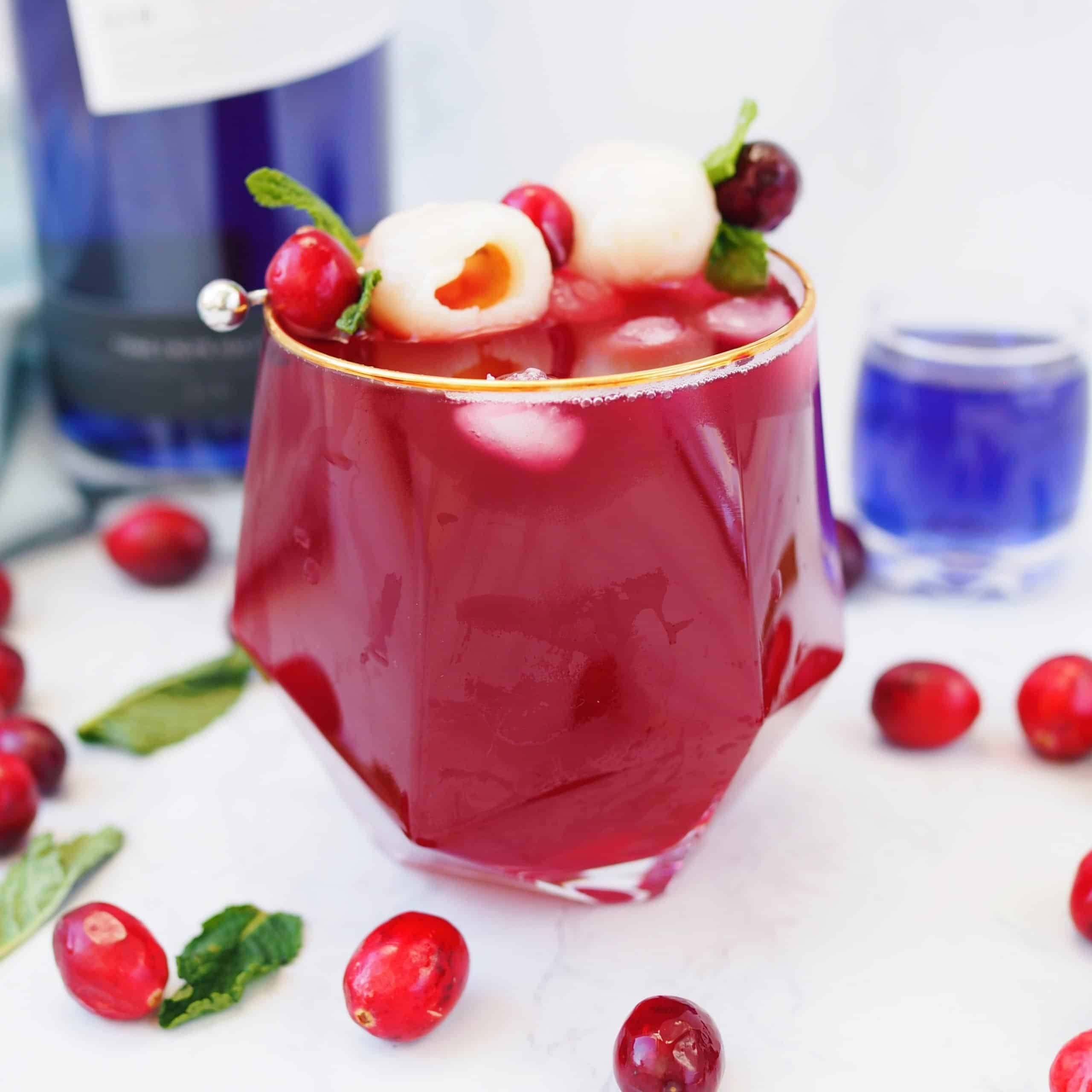 Lychee Cranberry Gin Cocktail