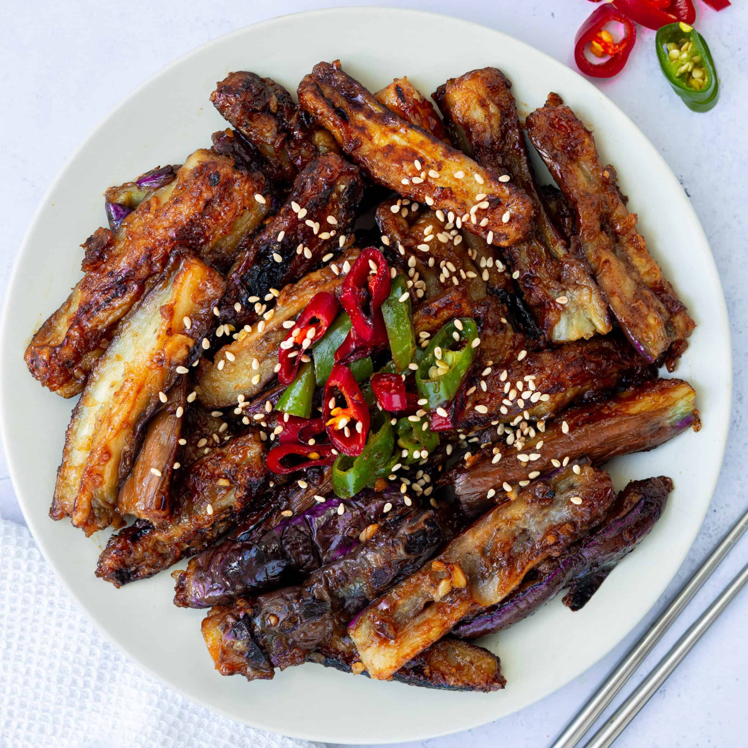 chinese hoisin eggplant stirfry