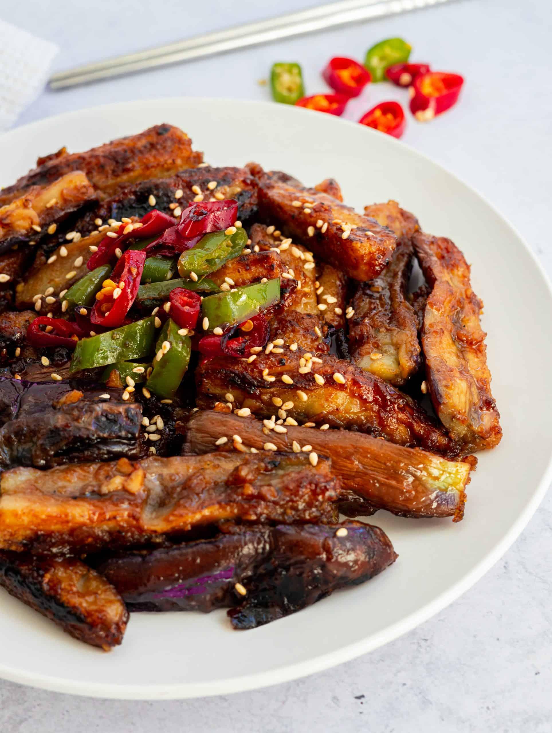 Chinese Hoisin Eggplant stir-fry