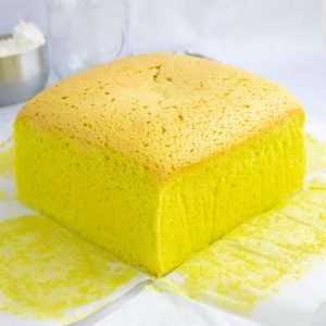 pandan castella cake