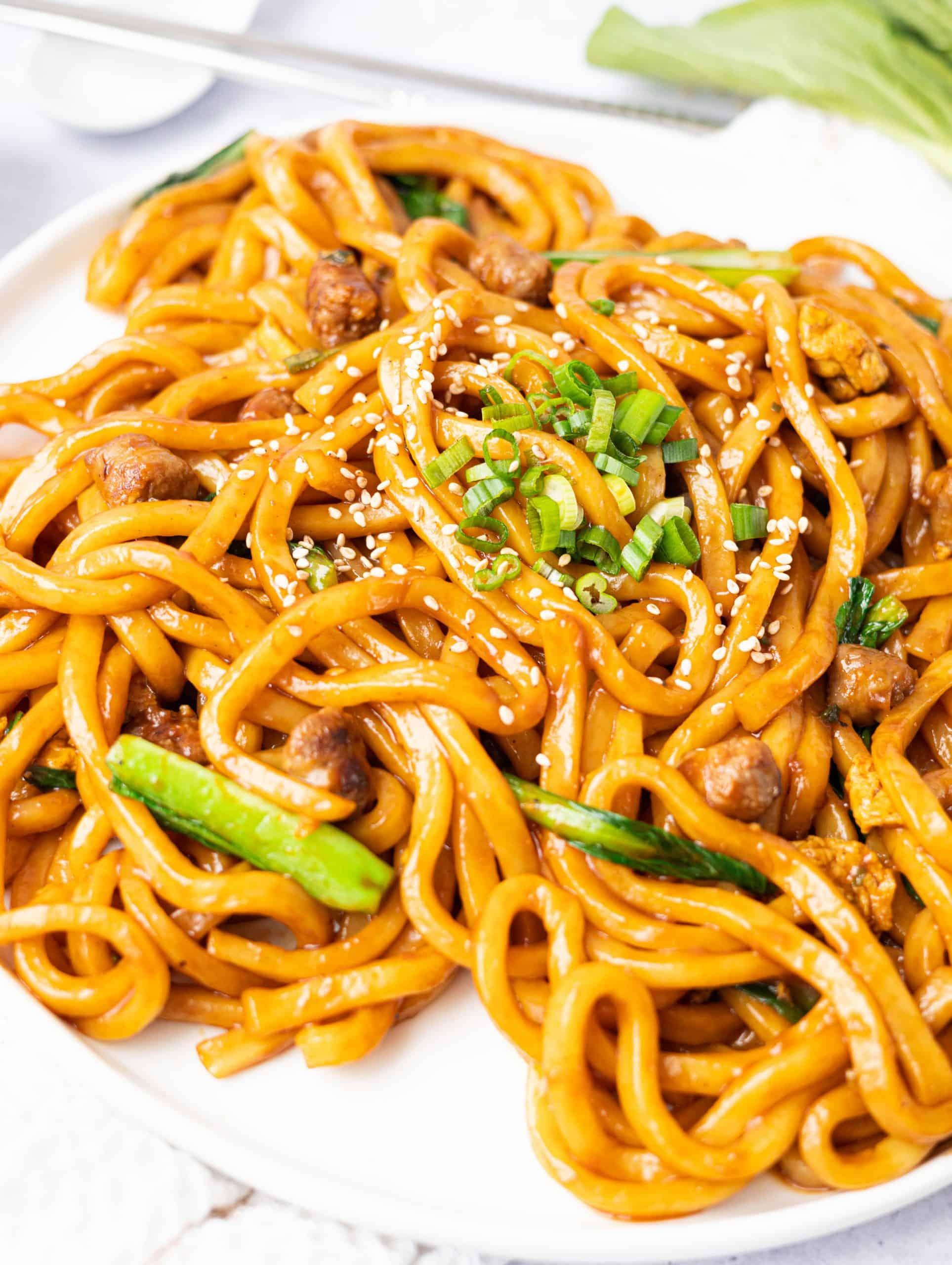 Sesame Sausage Udon Stir-Fry