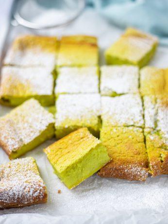 Pandan Custard Cake