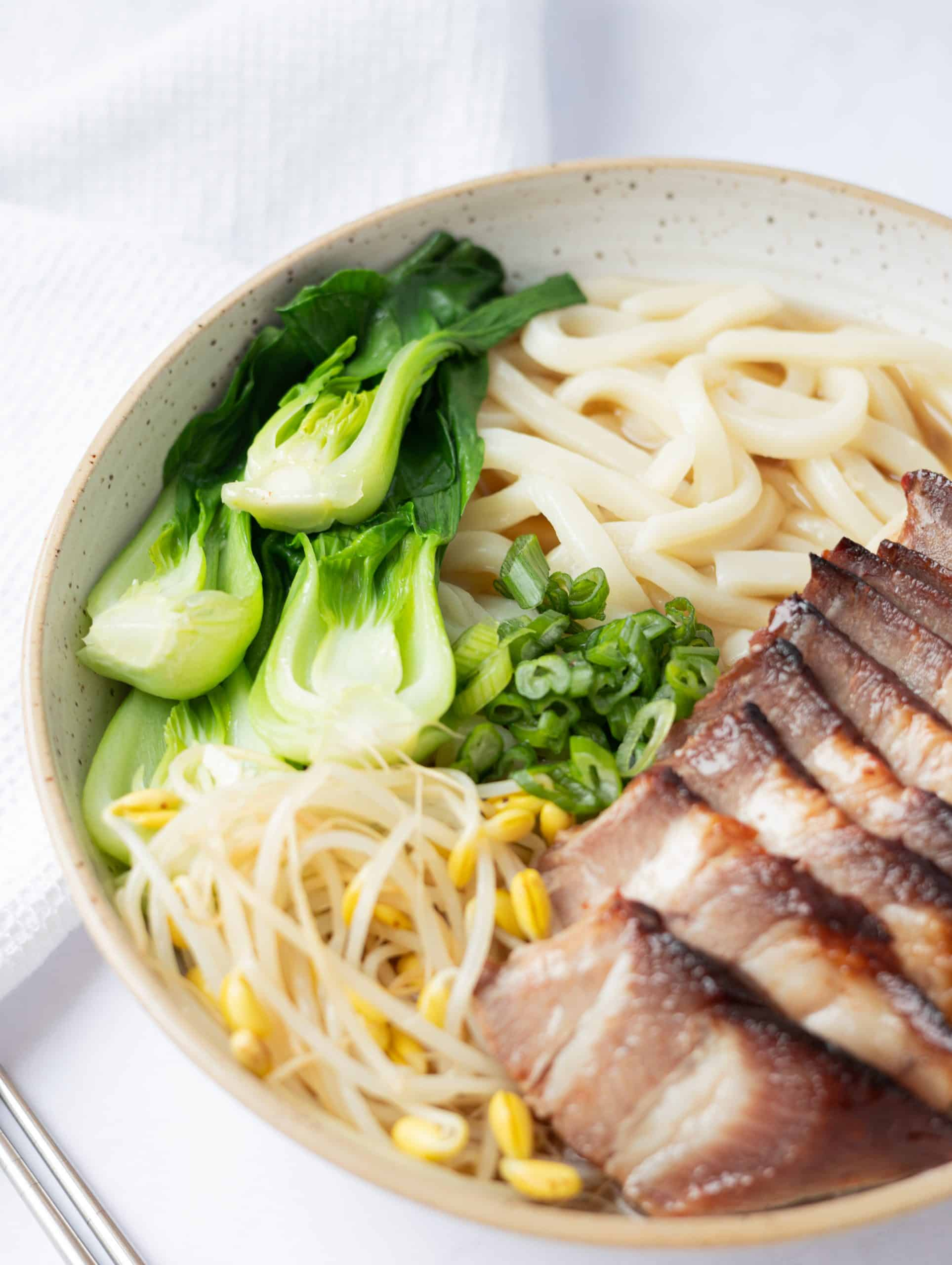 char siu udon noodle soup