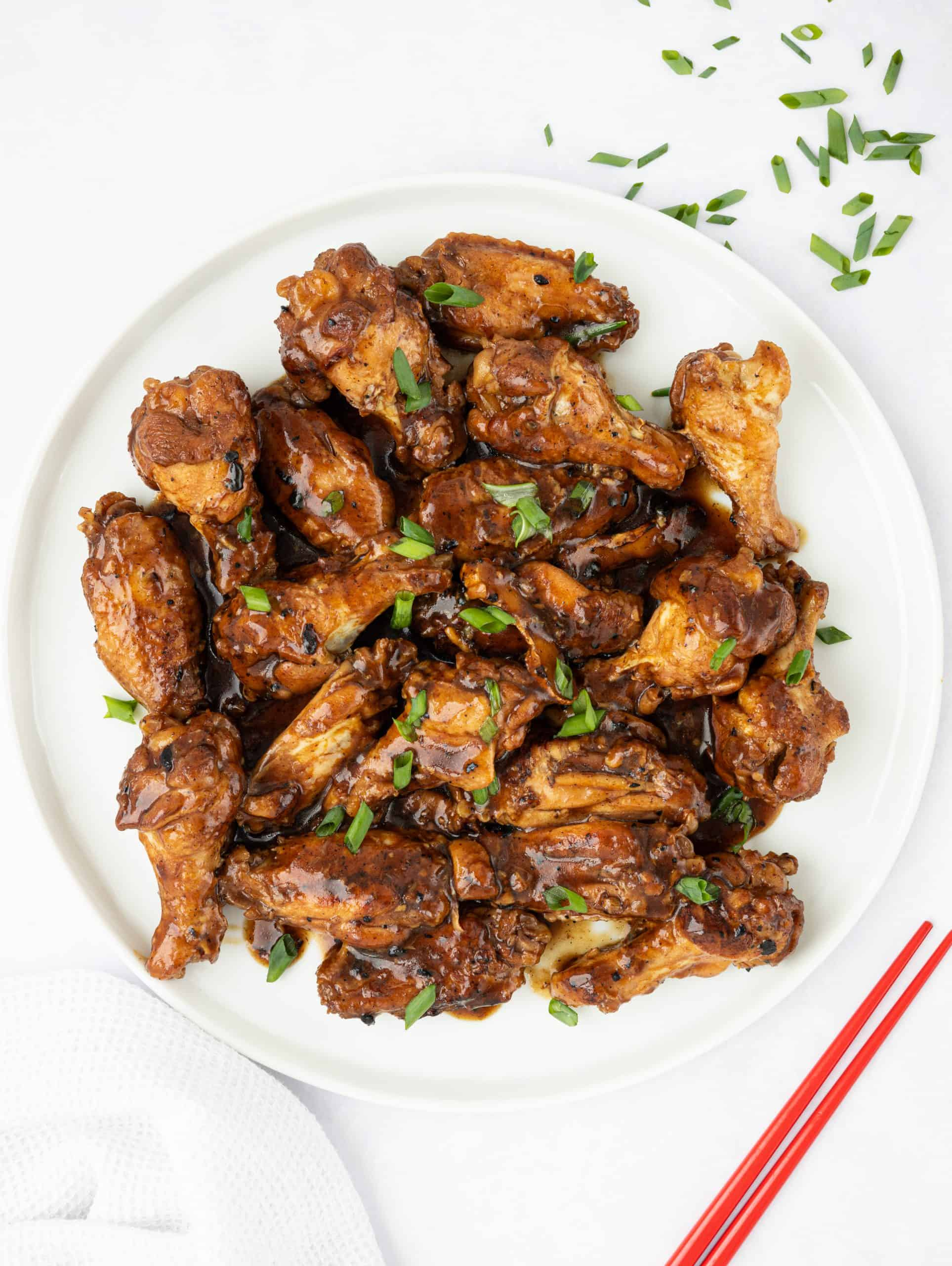 Oyster Sauce Braised Chicken Wings