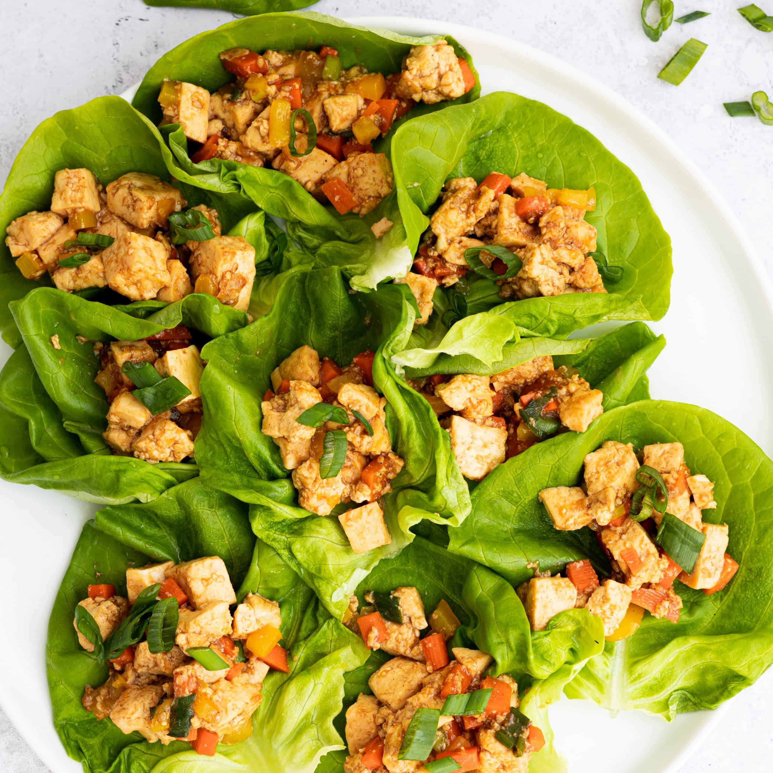 hoisin tofu lettuce wraps
