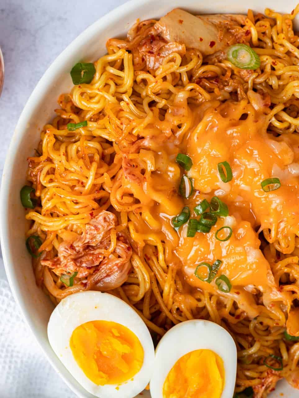 Kimchi Cheese Ramen Stir-Fry