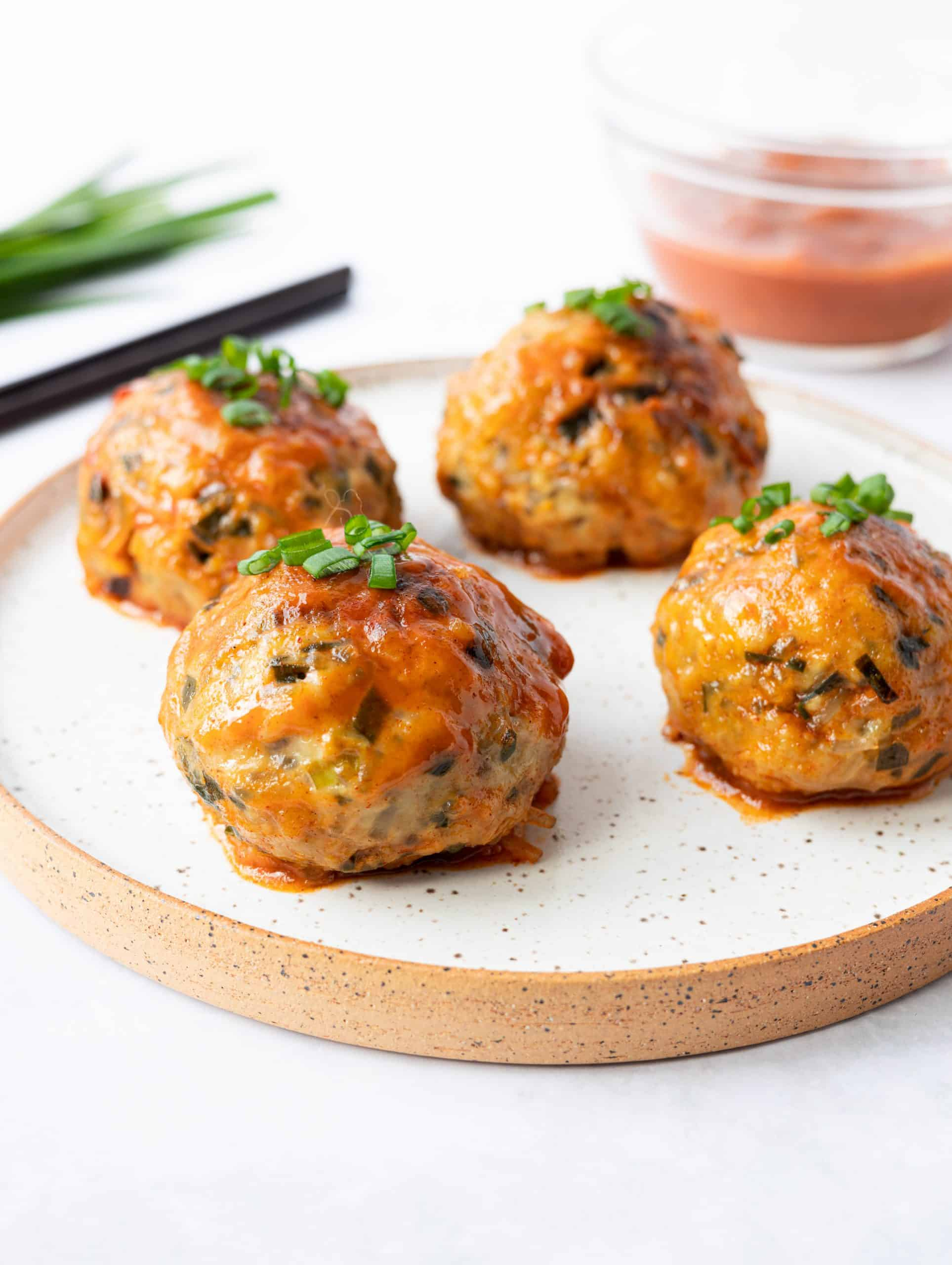 Gochujang Glazed Korean Meatballs