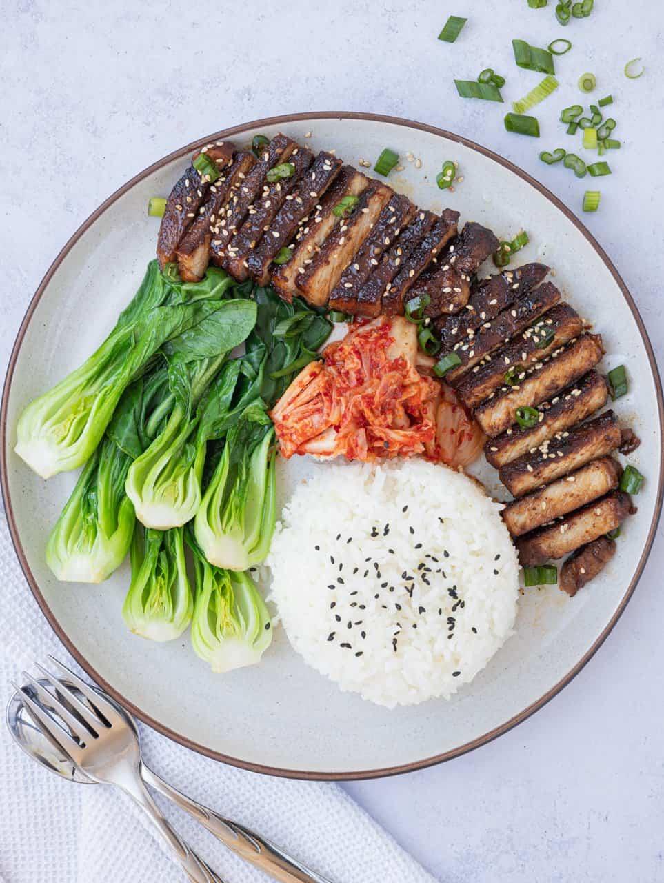 non-spicy korean pork bulgogi