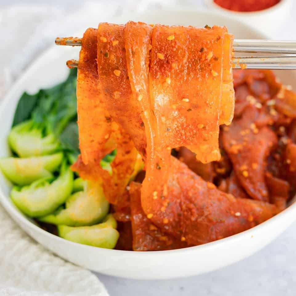 spicy rothy korean glass noodles