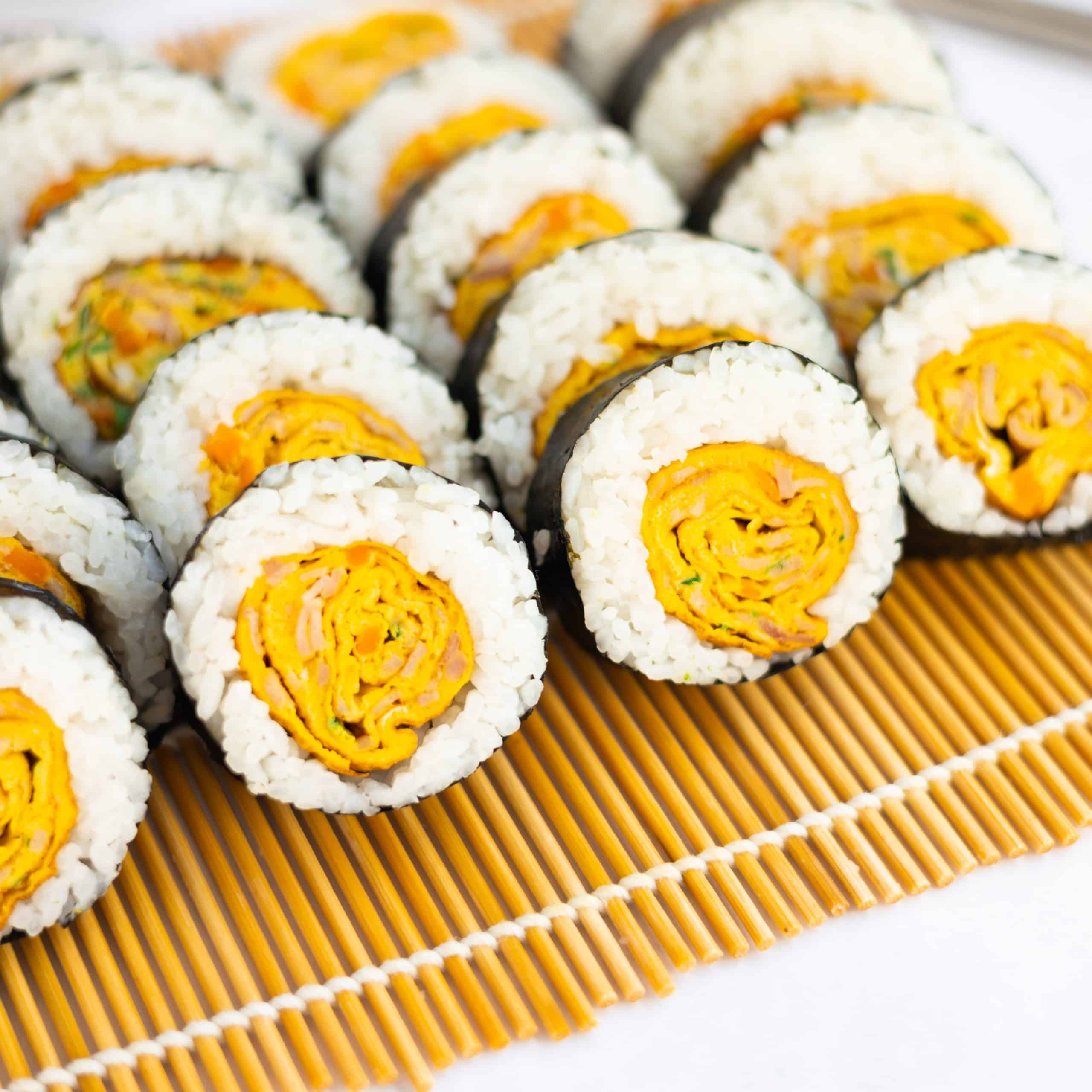 korean egg roll kimbap