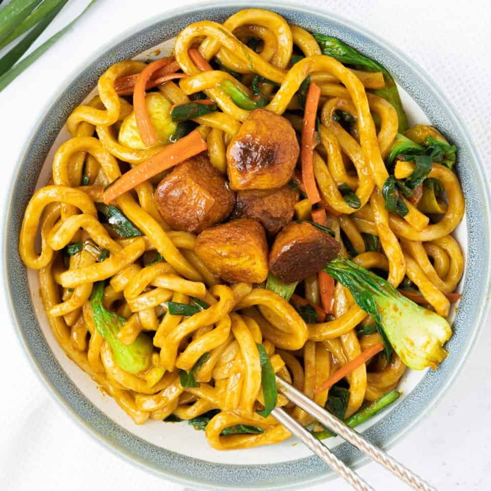 curry udon stir fry