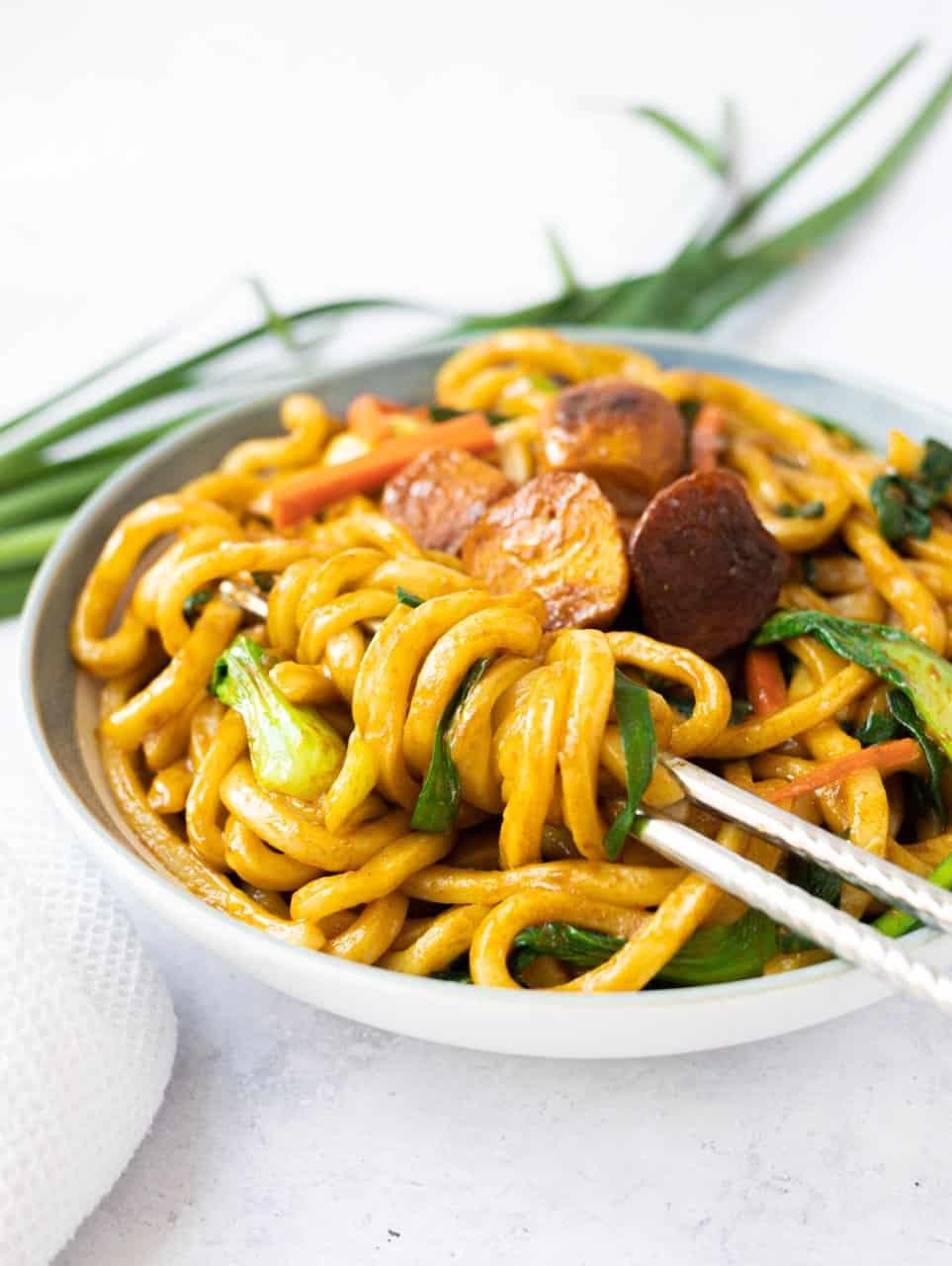 Curry Udon Noodle Stir fry