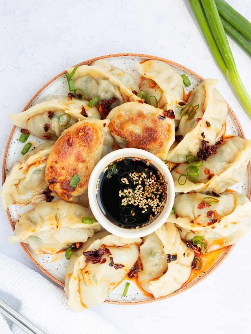 Chinese Pork Chive Dumplings