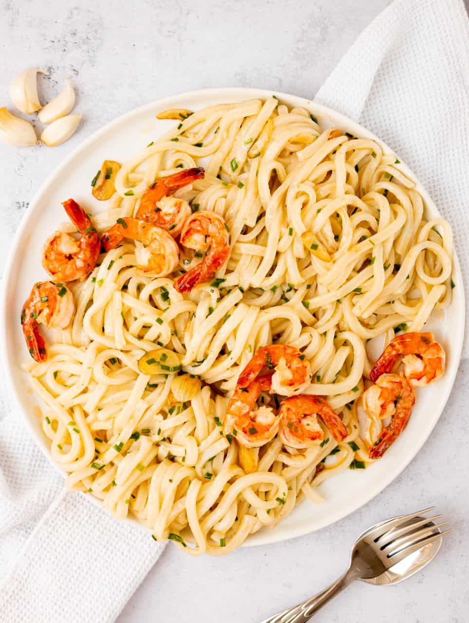 Garlic Butter Shrimp Udon