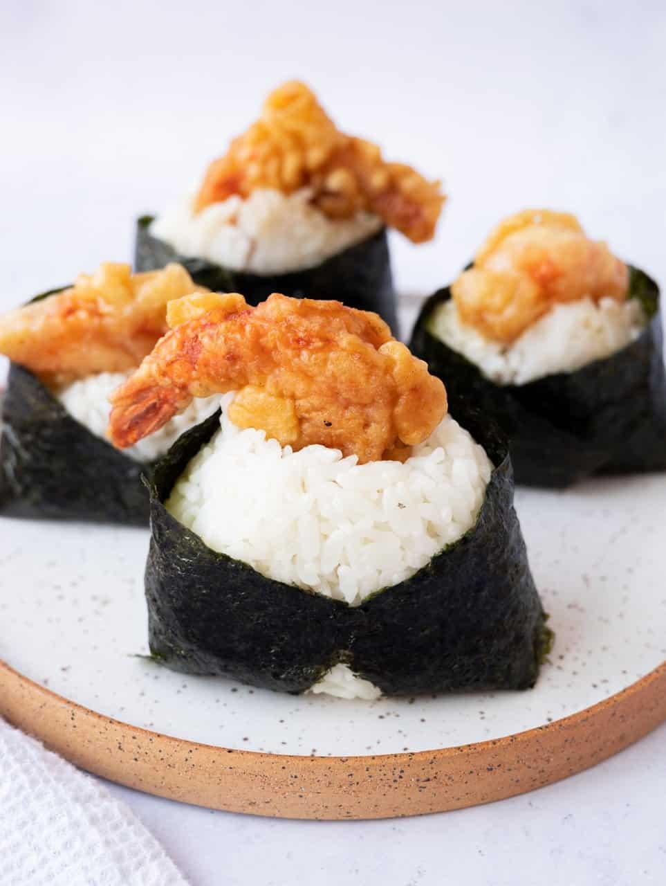 Tenmusu (Shrimp Tempura Rice Ball)