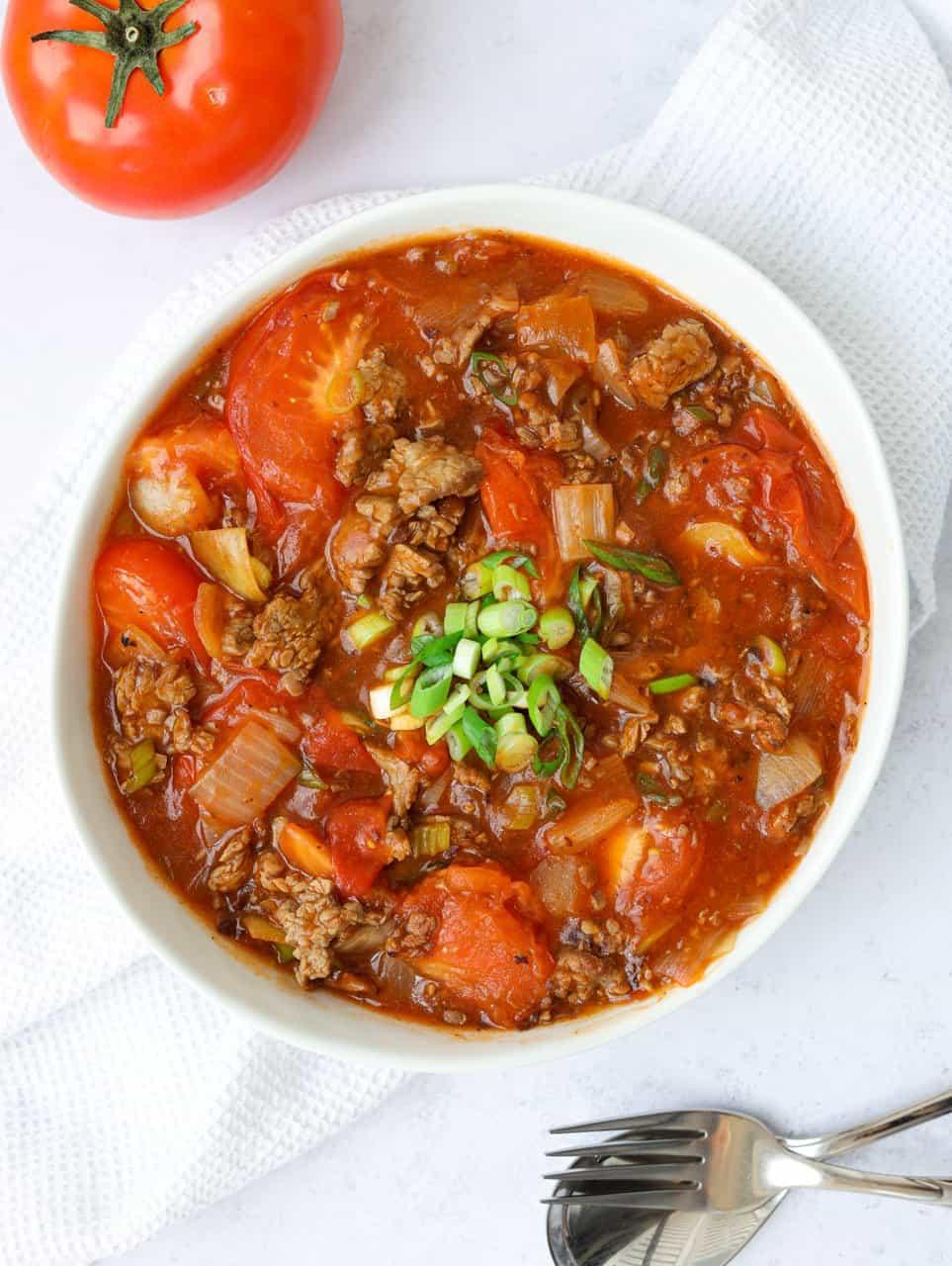 Chinese Tomato Beef Stir-fry