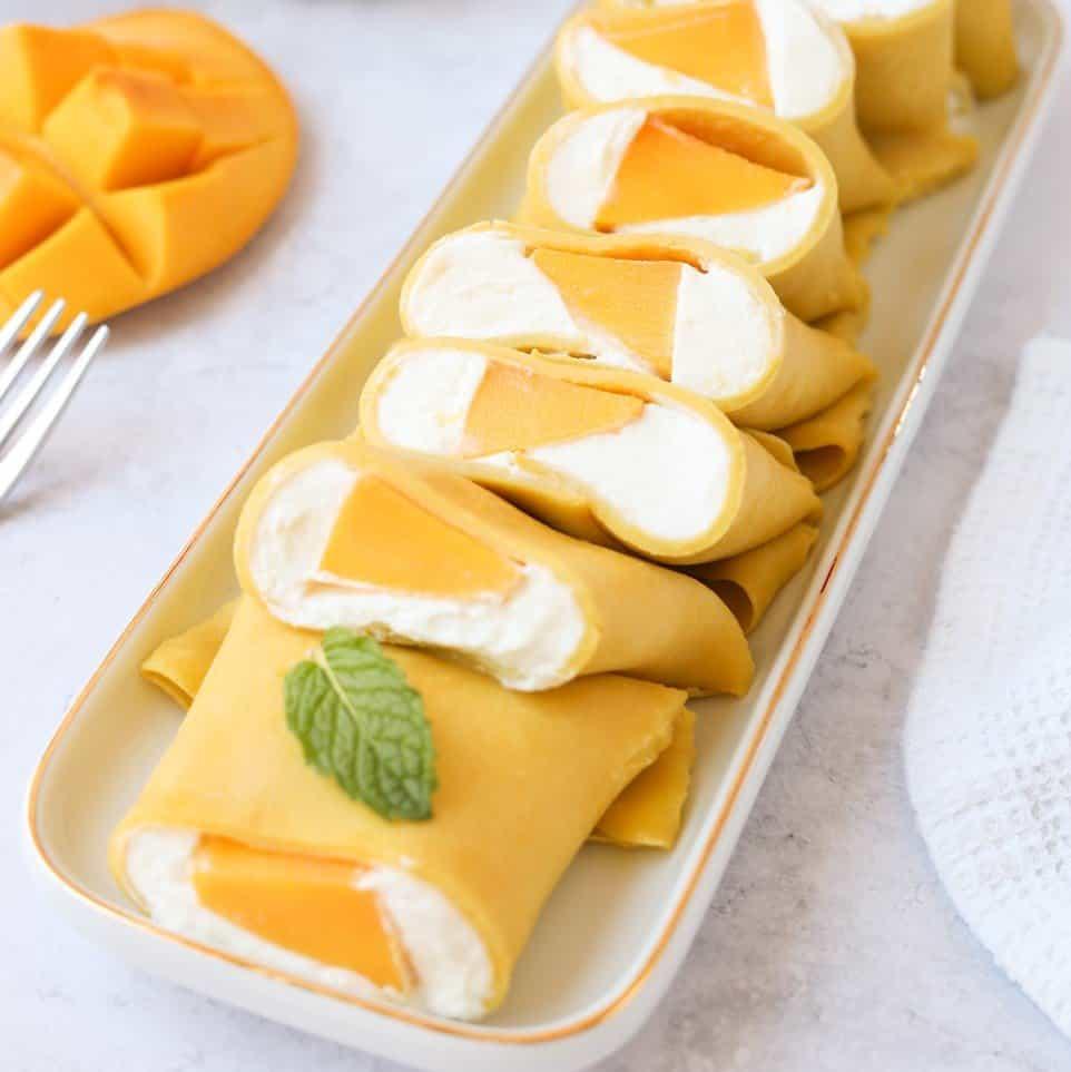 Hong Kong Style Mango Pancake