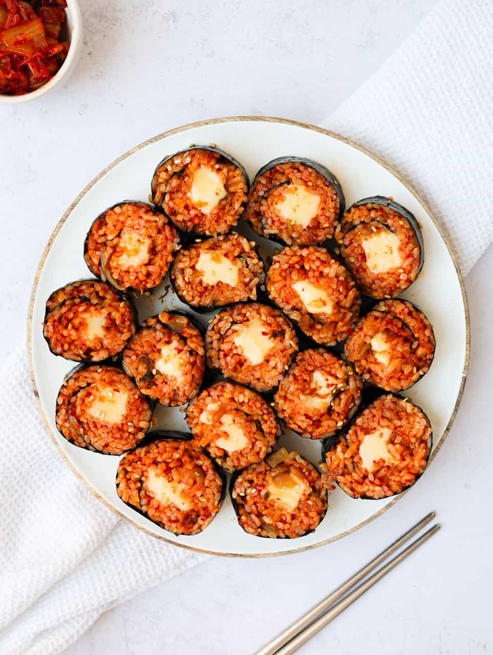 Cheese Kimchi Kimbap