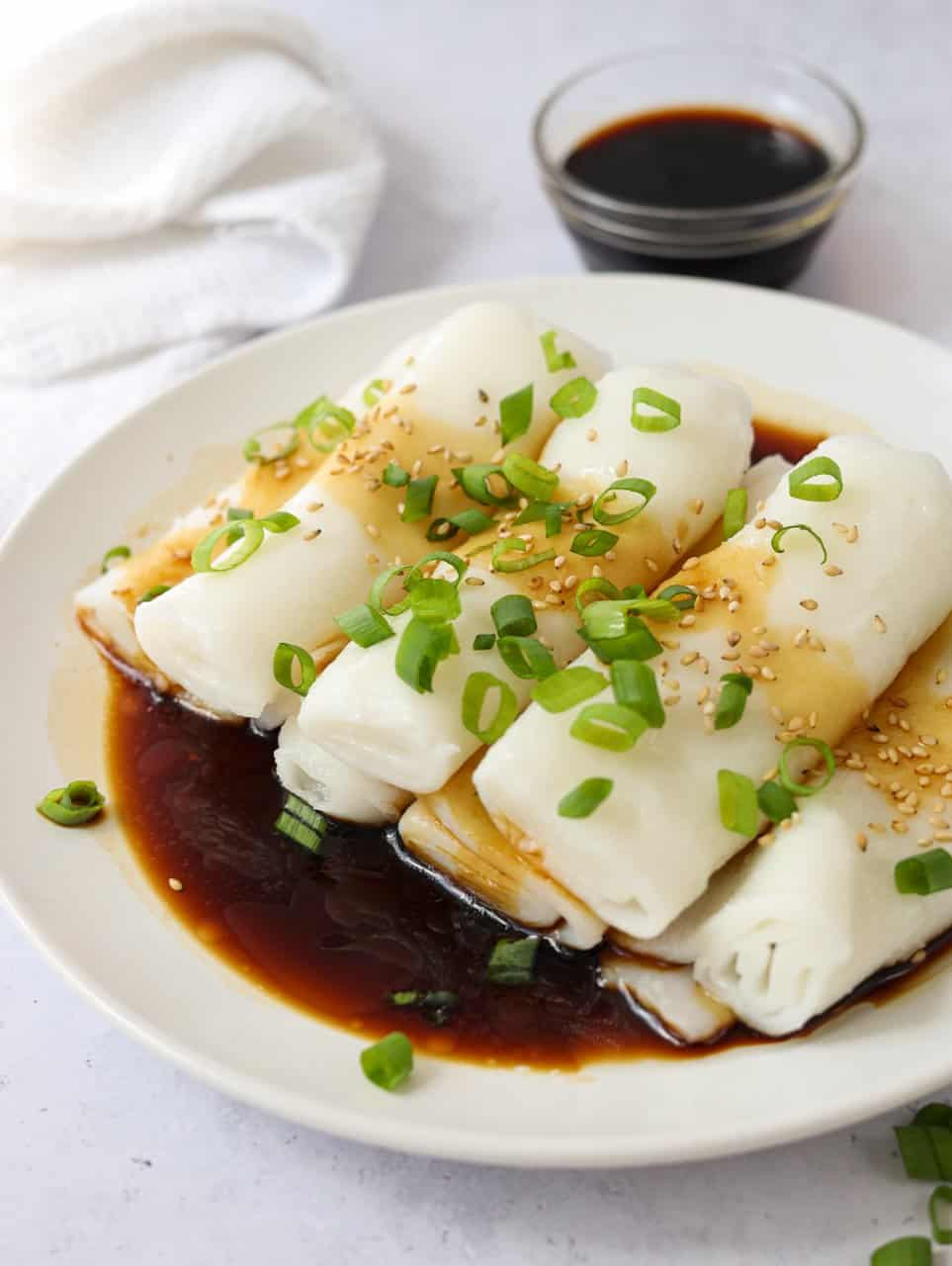 Rice Noodle Rolls Cheung Fun