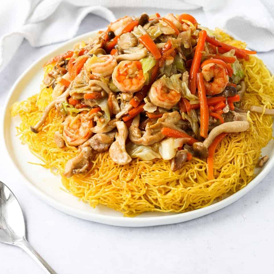 Chicken Shrimp Chow Mein