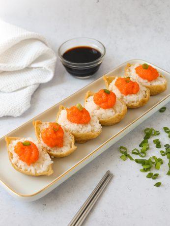 Inari Tobiko Sushi Roll