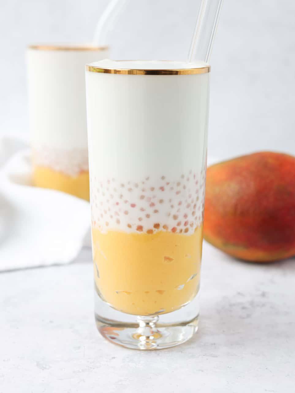 Mango Sago Coconut Drink