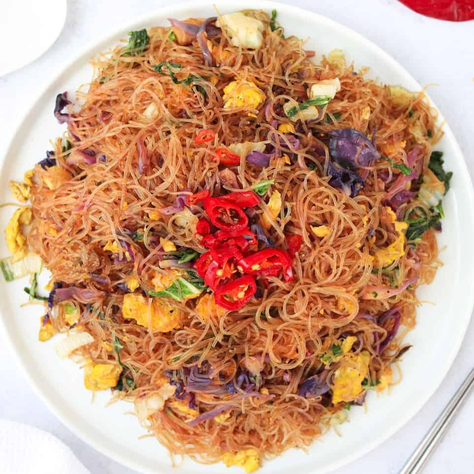 thai glass noodle stir-fry