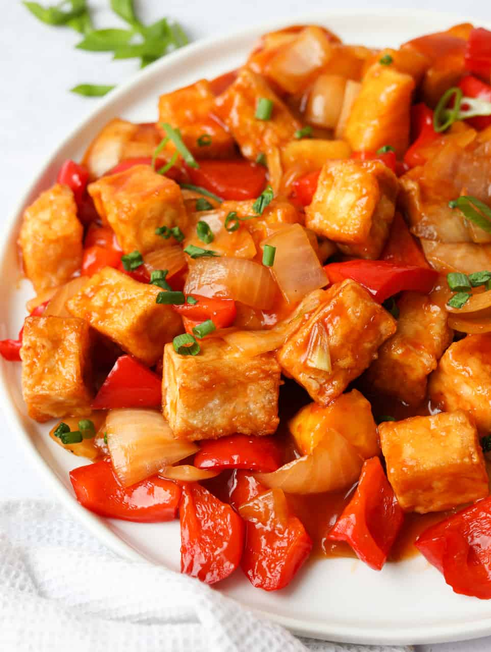 Air Fryer Sweet and Sour Tofu