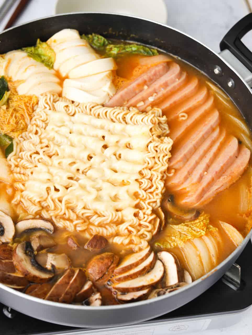 Mild Budae Jjigae Army Stew