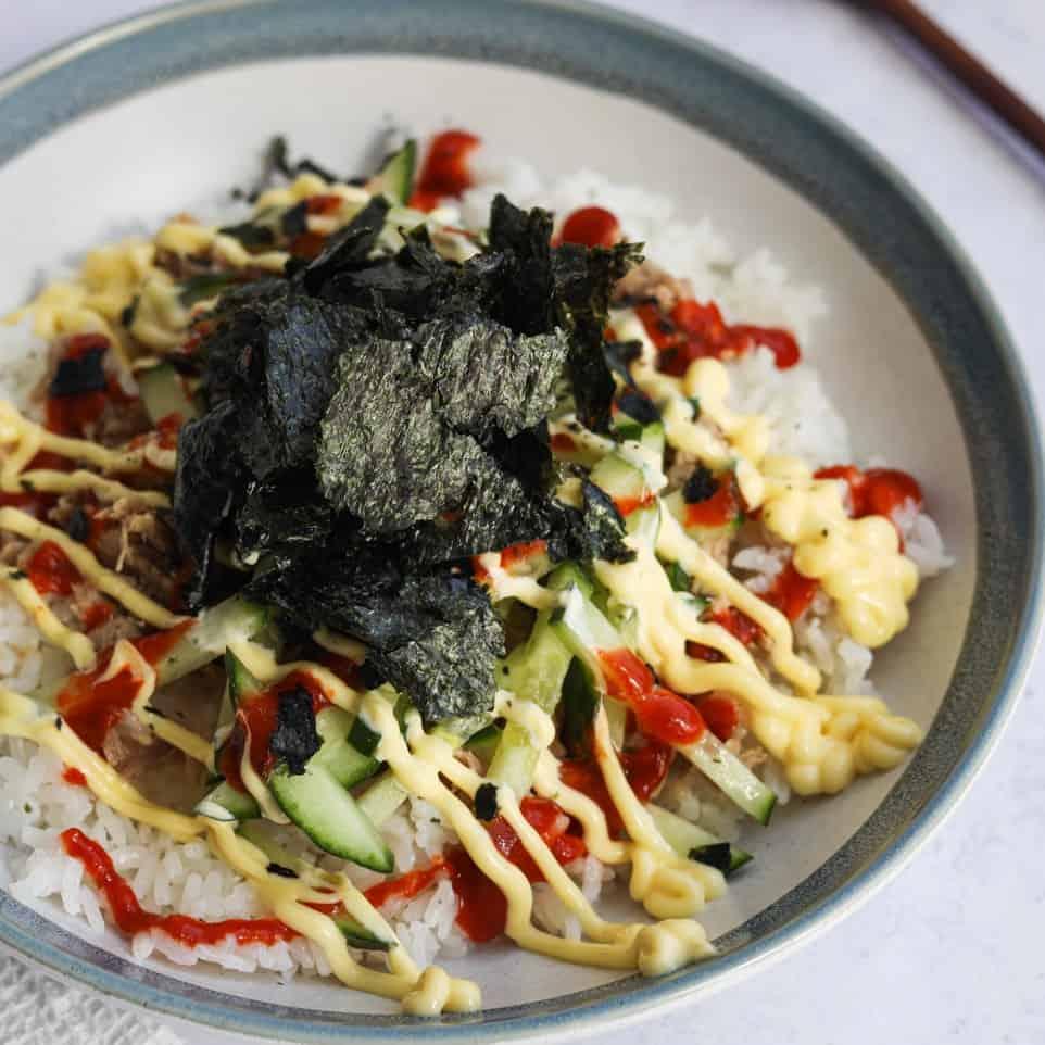 Japanese Spicy Tuna Rice Bowl